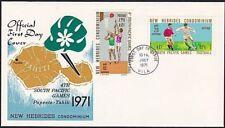 NEW HEBRIDES 1971 Games Football & Basketball commem FDC..........68396