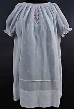 ANTIQUE EDWARDIAN TEENS CHILD'S DRESS W HAND EMBROIDERY