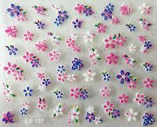 Nail art Stickers bijoux d'ongles autocollants mode: Fleurs et abeilles colorés