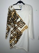 Versace Jeans womens dress Size UK10 EU38 White Brand new with Tags
