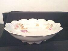 Antique Pre-1930s R C Malmaison Porcelain Fruit Bowl Bavaria Germany Pink Roses