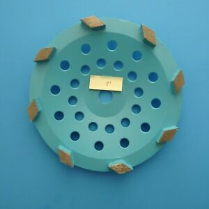 "9"" metal bond diamond grinding wheel: concrete floor grinding coating removal"