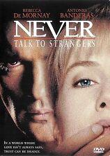 Never Talk To Strangers ~ Rebecca De Mornay Antonio Bander ~ DVD ~ FREE Shipping
