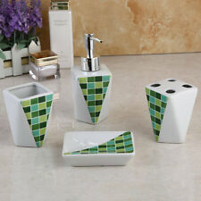 Geometry Ceramic Bath Bathroom Accessories Set Toothbrush Cup Soap Dispensor