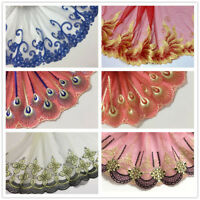 Lace Edge Trim  Vintage Coloured Embroidered Wedding Ribbon Applique DIY Sewing