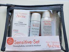 Avène Sensitive Skin Travel Kit, cleanser, thermal water spray,moisturizer set