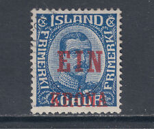 Iceland Sc 150 used 1926 1k red surcharge on 40a King Christian X, light cancel