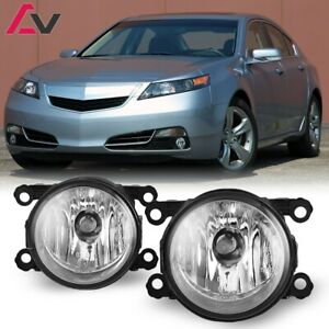 For Acura TL 12-14 Clear Lens Pair Bumper Fog Light Lamp OE Replacement DOT Bulb