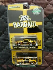 Greenlight Hobby Exclusive 1967 and 1970 Chevrolet Camaro SS 427 Mr. Bardahl