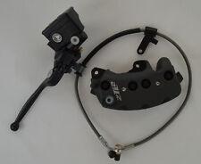 Buell 8 Piston Front Black Brake Caliper, Master Cylinder & Brake Line (B2D/B2Z)