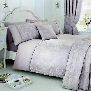 Serene Jasmine King Size Floral Duvet Cover Bedding Set Lavender (881)