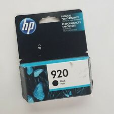 TWO (2) PACKAGES HP 920 BLACK INKJET CARTRIDGE OCTOBER 2017 EXPIRATION DATE