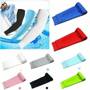Meryl Cooling Cycling Bicycle Arm Warmer Cuff Sleeves Cover Sun Protection US