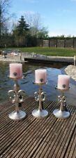 Kerzenhalter Kerzenständer Kerze französische Lilie silber Alu colmore 14x15x32