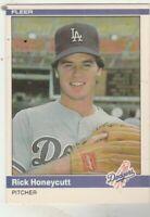 FREE SHIPPING-MINT-1984 Fleer #101 Rick Honeycutt Dodgers PLUS BONUS CARDS