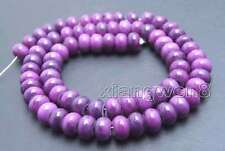 5*8mm Natural Purple Rondelle Sugilite Bead for Jewelry Making Loose Strand 15''