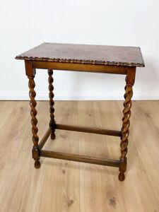 Beistelltisch antik in Eiche gewachst, um 1920 Gründerzeit, Tisch Konsoltisch