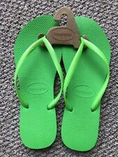 Lake Green Brand New Havaianas Brasil Unisex Flip Flops 4000032-8443