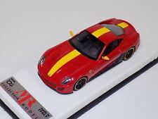 1/43 MR Ferrari 599 GTO Red with Yellow Stripe 2010 leather base Lim. 24