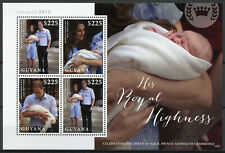 Guyana Royalty Stamps 2013 MNH Prince George Royal Baby William & Kate 4v M/S
