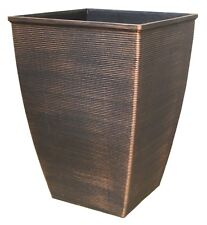 46.6 Litre COPPER Large Plant Pot Square Tall Plastic Planter Outdoor Garden