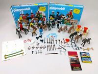 Playmobil System Indian & Cowboy Deluxe Sets Figures Playset Missing Parts 1980