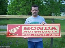 Vintage style Honda Motorcycle Sign 4ft.  BRAND NEW! metal, aluminum, gold wing