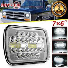 """150W 7X6"""" 5X7"""" LED Headlight DRL For Jeep Cherokee XJ Dodge W250 D350 Ram 81-93"""