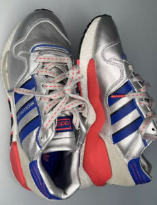 Adidas Micropacer Sneakers Size 7 US Silver Blue Red EF5558 ZX930 EQT Shoes