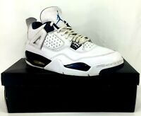 Nike Air Jordan 4 Retro LS Columbia White Legend Blue Navy 314254-107 Size 11