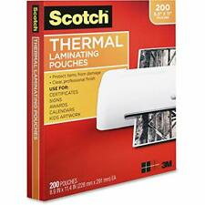 New Listingscotch Thermal Laminating Pouches 200pack 89x114 Inches Letter Size Sheets