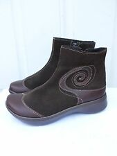"""New Women's Naot """"Oyster"""" Brown leather ankle boots Shoes 37 (US 6)"""