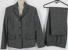 Nygard Collection 12 Pantsuit Black Tweed Fleck Wool Blend Career Jacket Pants