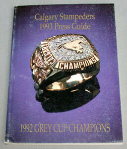 Original CFL 1993 Calgary Stampeders Official Football Media Press Guide