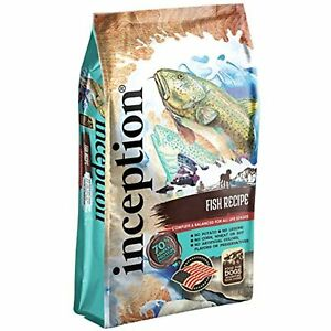 Inception Dry Dog Food Fish Recipe  Complete and Balanced Dog Food  Meat First