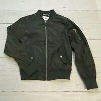 Goodfellow Charcoal Zip Up Satiny Bomber Jacket Men Size Small NEW