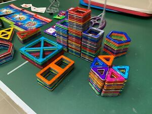 Rainbow Asst Magformers Lot-Over 200 pieces-Incl Carnival, Cars & Building Set
