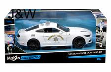 Maisto Ford Mustang GT 2015 California Highway Patrol White 32514 1/24