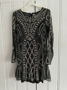 Needle And Thread beaded 1920s Gatsby Flapper Style Cocktail Dress Snug 14 (12)