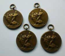 1946  -  4 x Vintage Bronze Sports Medals - Athletic Championships
