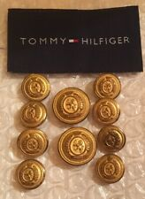 Tommy Hilfiger Coat Of Arms Blazer Button Set 10 For 2 Button Coat Solid Brass