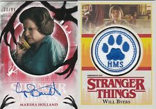 LOT Will Byers / Marsha Holland Topps Stranger Things Patch Autograph AUTO /99