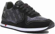Guess New Glory Lace Up 4G Logo Trainer EX DISPLAY In Black Grey Size UK 12