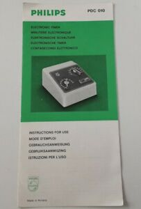 Philips Electronic Timer PDC010 Instructions only