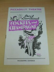 Cockles And Champagne Renee Houston Fenella Fielding London Theatre Programme