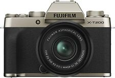 Fujifilm X-T200 Mirrorless Digital Camera w 15-45mm Lens Silver Gold Dark Silver