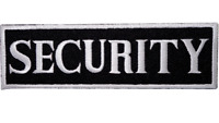 SECURITY EMBROIDERED IRON ON SEW ON PATCH - BADGE LOGO UK Seller