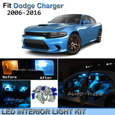 8pcs Bright Ice Blue Interior LED Lights Package Kit For 2006-2016 Dodge Charger