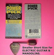 """Fender Pick, Guitar Pick MASS Enhancer POWER PICK Increases String Volume """"NEW"""""""