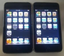 Lot of 2 Apple iPod Touch 2nd Gen A1288 8GB Black - STAINS ON CORNER OF LCD